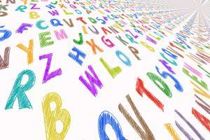 gekleurde letters