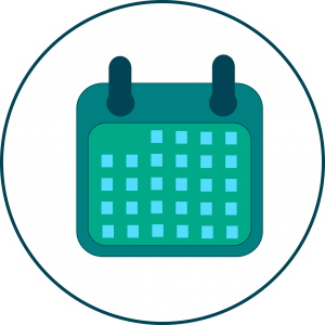 Vector image of a calendar