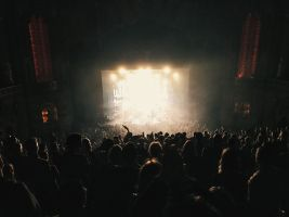 People attend a concert