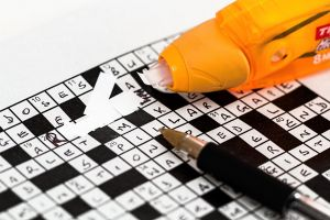 a crossword puzzle is solved