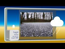 Screenshot van video: foto van hagel