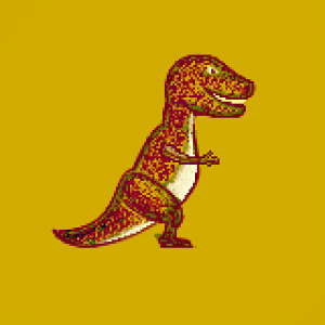 Drawing of a dinosaur