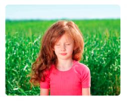 kind dat mediteert
