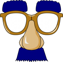False nose with mustache and glasses