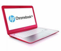 a red chromebook