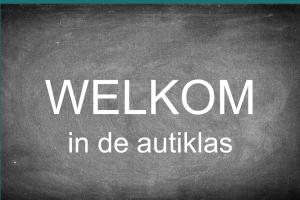 Schoolbord met de woorden: Welkom in de autiklas