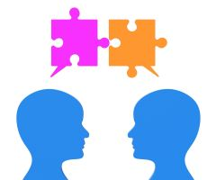 People communicate as 'puzzle pieces'