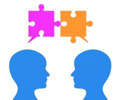 Mensen communiceren als 'puzzelstukken'