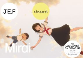 2 personage uit de film Mirai