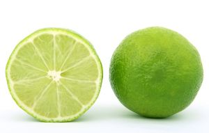 Lime cut in half