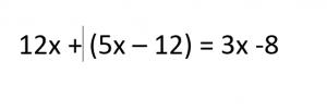 een wiskundige vergelijking