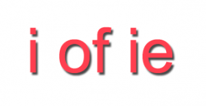 letters i of ie
