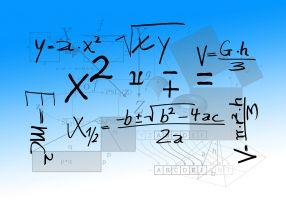 wiskundige tekens en formules door elkaar