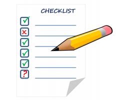 checklist with pencil