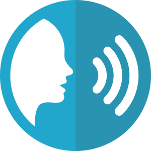 icoon van sprekende persoon