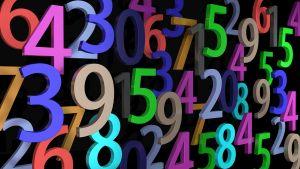 gekleurde cijfers door elkaar