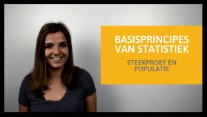 Nouchka legt uit wat een steekproef en populatie inhoudt