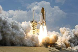 ascending rocket
