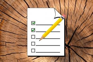 Achtergrond hout - checklist