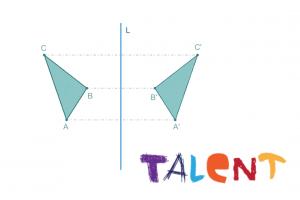 Spiegeling van driehoek