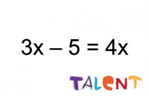 3x - 5 = 4x