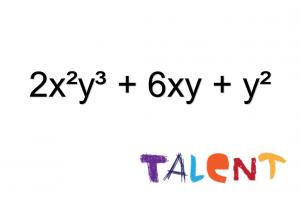 2x²y³ + 6xy + y²