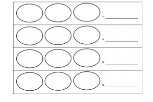 Empty circles to calculate a circle to 1000