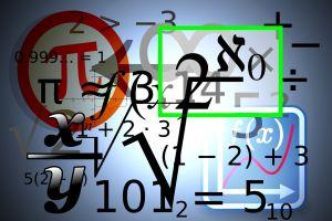 wiskundige symbolen kris kras door elkaar