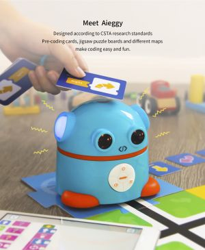 Aieggy is programmed with pre-coding cards