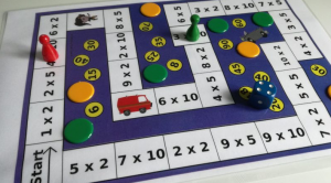 Calculation game with dice