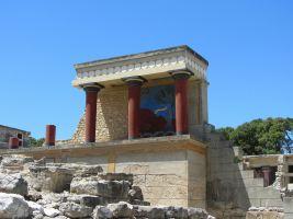 detail van het paleis van Knossos