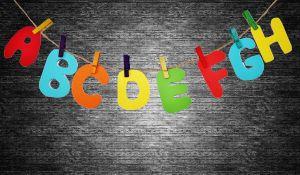 Enkele kleurrijke letters