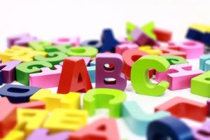 Mixed letters of the alphabet