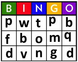 Afdruk bingospel