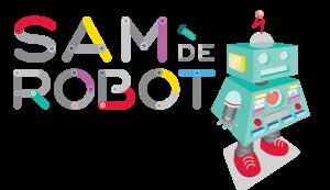 tekst 'sam de robot' en afbeelding van een robot