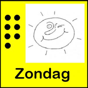 Pictogram van zondag met zon