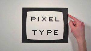 lettertype Pixel Type