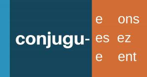 het woord conjuguer
