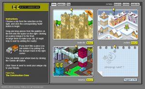 De homepage van City Creator