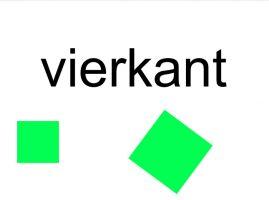 twee groene vierkanten
