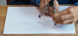 line segments are drawn with a compass