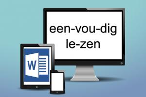 Tablet en scherm met tekst 'eenvoudig lezen'