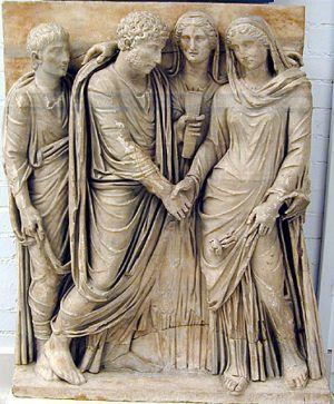 Roman wedding statue