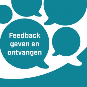 Logo van feedback geven en ontvangen
