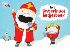 Cover Sinterklaas songbook with image of the Saint