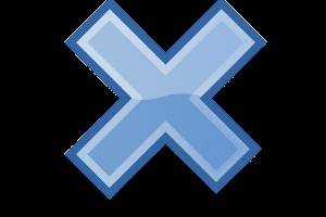 blauw vermenigvuldigingsteken