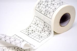 sudoku op wc-papier