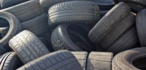 old tires in a pile