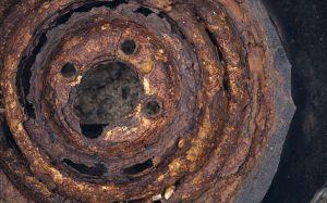 rusted car rim