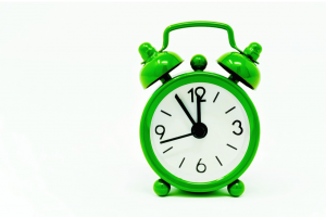 groene, analoge klok